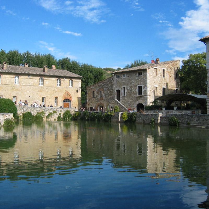 Bagno Vignoni in Toscana